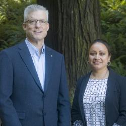 Bob Judevine and Alejandra Garcia